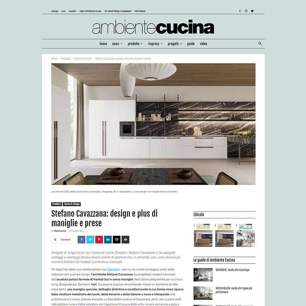 Ambientecucinaweb - Intervista a Stefano Cavazzana